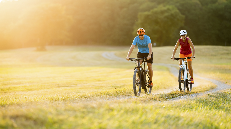 Fahrradfahren ist eine ideale Alternative und Ergänzung zum Laufen.